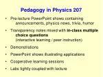 pedagogy in physics 207101