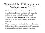 where did the 1831 migration to volhynia come from