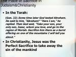 the place of sacrifice in judaism christianity