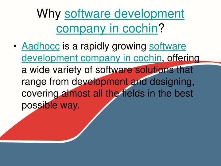 Why software development company in cochin