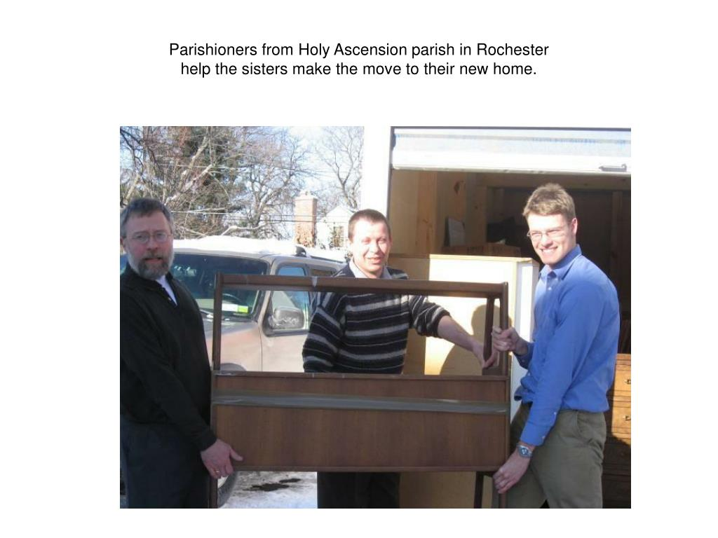 Parishioners from Holy Ascension parish in Rochester