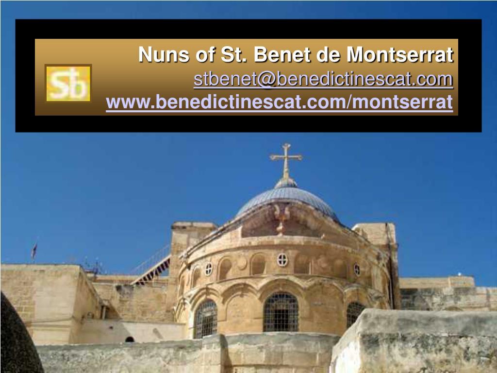 Nuns of St. Benet de Montserrat