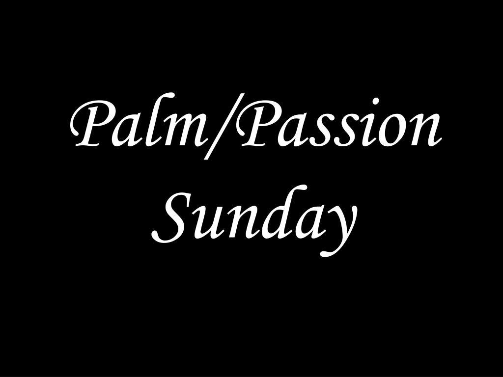 palm passion sunday l.