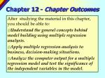 chapter 12 chapter outcomes