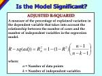 is the model significant2