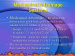 mechanical advantage systems