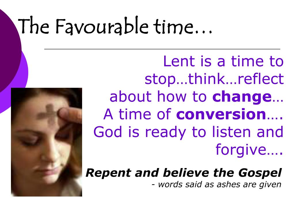 Lent is a time to stop…think…reflect