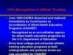 ama recognition of athletic training1