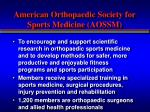 american orthopaedic society for sports medicine aossm