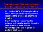 national athletic trainers association board of certification nataboc