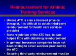 reimbursement for athletic training services2