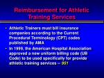 reimbursement for athletic training services4