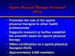 sports physical therapy section of apta1