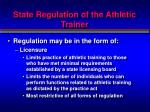 state regulation of the athletic trainer2