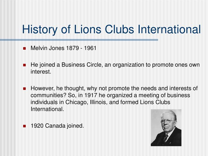 history of lions clubs international n.