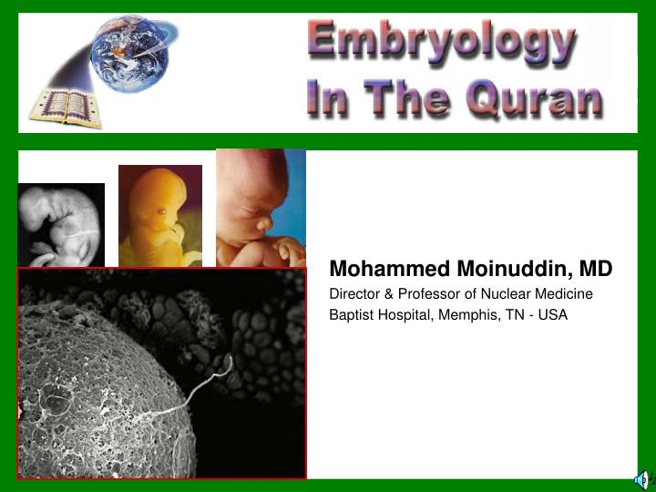mohammed moinuddin md director professor of nuclear medicine baptist hospital memphis tn usa n.