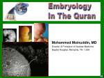 mohammed moinuddin md director professor of nuclear medicine baptist hospital memphis tn usa