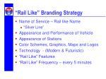 rail like branding strategy
