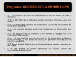 preguntas control de la informaci n
