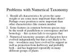 problems with numerical taxonomy