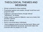 theological themes and message