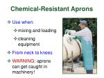 chemical resistant aprons