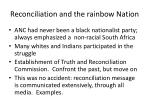 reconciliation and the rainbow nation