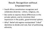 result recognition without empowerment