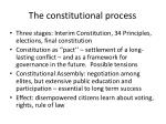 the constitutional process