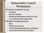 homeostatic control mechanisms1
