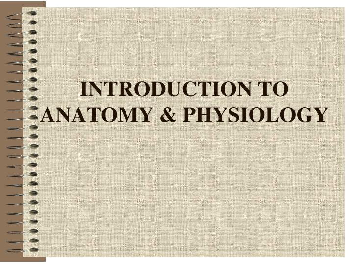 introduction to anatomy physiology n.