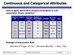 continuous and categorical attributes