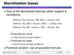 discretization issues