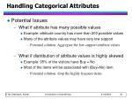 handling categorical attributes1