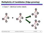 multiplicity of candidates edge growing