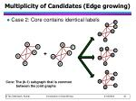 multiplicity of candidates edge growing1