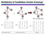 multiplicity of candidates vertex growing