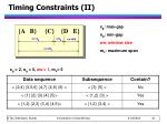 timing constraints ii