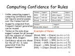 computing confidence for rules