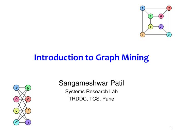 introduction to graph mining n.