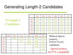 generating length 2 candidates
