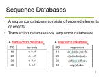 sequence databases