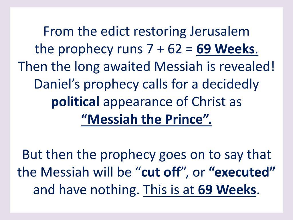 From the edict restoring Jerusalem