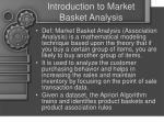 introduction to market basket analysis
