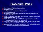 procedure part 2