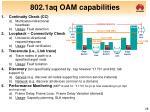 802 1aq oam capabilities