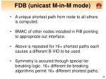 fdb unicast m in m mode