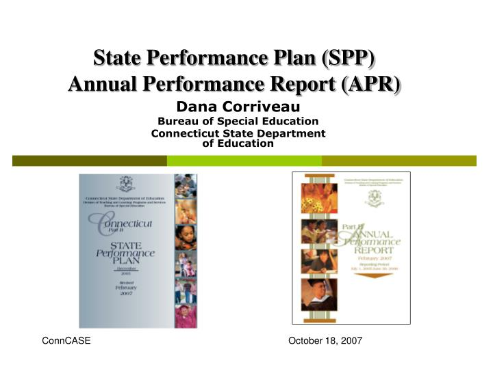 state performance plan spp annual performance report apr n.