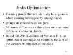 jenks optimization