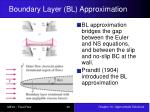 boundary layer bl approximation